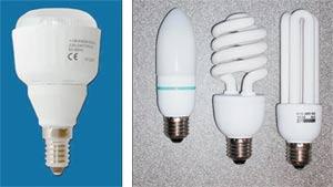 Una lunga lampada bianca confronto tra diversi tipi di lampade